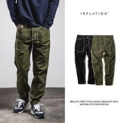 Newin - Military Straight Pants