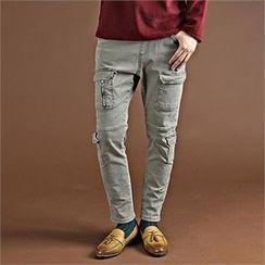 THE COVER - Cargo-Pocket Straight-Cut Pants