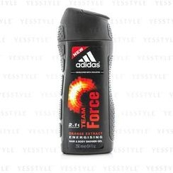 Adidas - Team Force 2 In 1 Orange Extract Energising Hair and Body Shower Gel