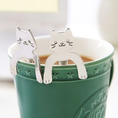 Cute Essentials - Cat-Shaped Stainless Steel Coffee Spoon