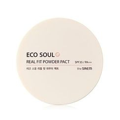 The Saem - Eco Soul Real Fit Powder Pact SPF 35 PA++ (#21 ClearBeige)