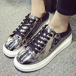 Pixie Pair - Metallic Platform Sneakers