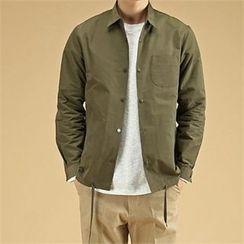 THE COVER - Pocket-Front Snap-Button Jacket