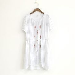 Ranche - Short-Sleeve Patterned Dress