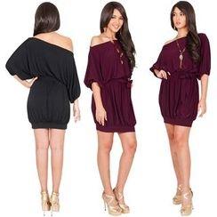 Hotprint - Drop Shoulder Sheath Dress
