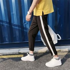 Soulcity - Contrast Trim Tapered Pants