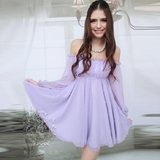 Dabuwawa - Off-Shoulder Chiffon Dress