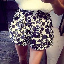 QZ Lady - Printed Wide-Leg Shorts
