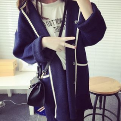 Qimi - 垂肩針織外套