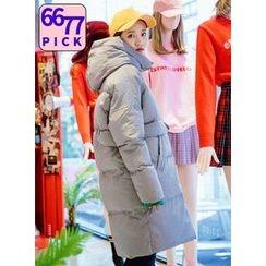 icecream12 - Hood Long Padded Coat