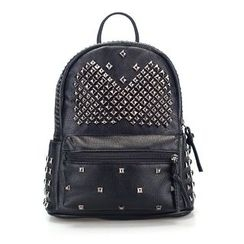 Gardenia - Faux Leather Studded Backpack