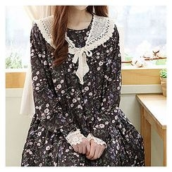 Sechuna - Tiered Floral-Patterned Dress