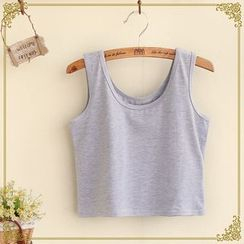 Fairyland - Cropped Plain Tank Top