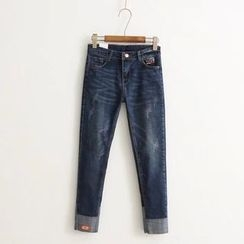 Angel Love - Applique Jeans