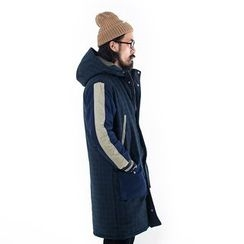 YIDESIMPLE - Patchwork Hooded Coat