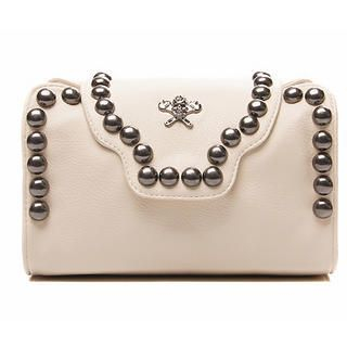 Studded Flap Handbag