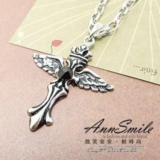 AnnSmile - Wing-Cross Necklace