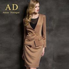 艾尚臣 - 套裝: 開扣西裝 + 鉛筆裙