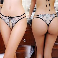 Windbelle - Lace Open Crotch Panties