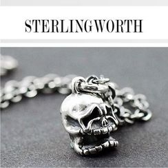 Sterlingworth - Skull Sterling Silver Pendant