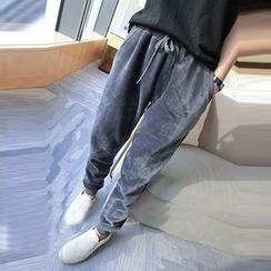 Kojasmine - Drawstring Fleece-Lined Couple Matching Pants