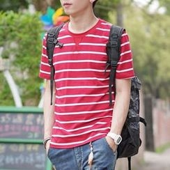 SeventyAge - Short-Sleeve Striped T-Shirt