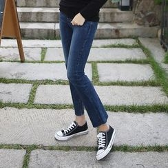 Envy Look - Washed Boot-Cut Jeans