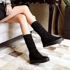 JY Shoes - Over-the-Knee Hidden Wedge Boots