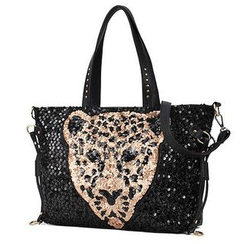LineShow - Leopard Sequined Tote