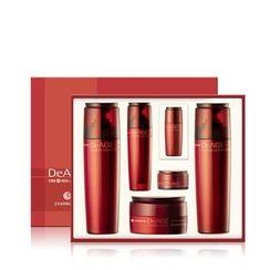 Charm Zone - DeAGE Red Addition Set: Skin 130ml + Emulsion 130ml + Nutrient Cream 50ml + Essence 50ml + 15ml + Hydrating Cream 10ml