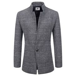 TheLees - Check-Pattern Single-Breasted Jacket