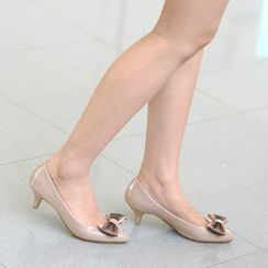 59th Street - Bow Accent Patent Pumps