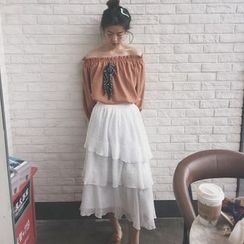 Bloombloom - Tiered Lace Skirt