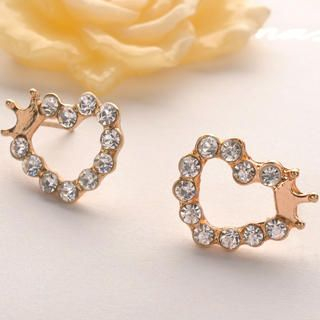 Fit-to-Kill - Heart Diamond Circle Crown Earring