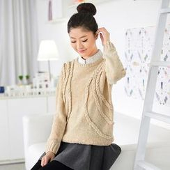 59 Seconds - Braid Accent Sweater