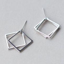 A'ROCH - 925纯银方形耳坠