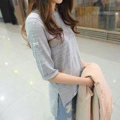 REDOPIN - Elbow Sleeve Dip-Back T-Shirt