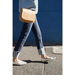 CHERRYKOKO - Cuff-Hem Straight-Cut Jeans