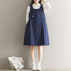 Clover Dream - 條紋背帶裙