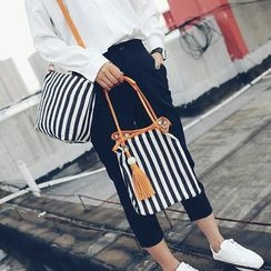 Pandabada - Striped Bucket Bag