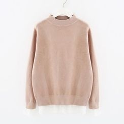 Meimei - Lace Underlay Sweater