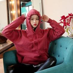 DABAGIRL - Hooded Brushed-Fleece Lined Colored Pullover