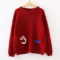 ninna nanna - Owl Embroidered Sweater