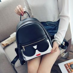 Seok - Girl Faux Leather Backpack