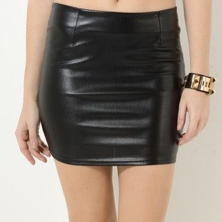 YesStyle Z - Faux-Leather Pencil Skirt