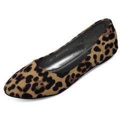 yeswalker - Leopard Print Almond Toe Flats