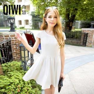 QIWI - Cap-Sleeve Chiffon-Panel Dress
