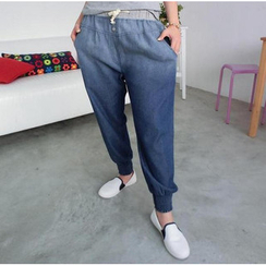 59 Seconds - Drawcord Chambray Harem Pants