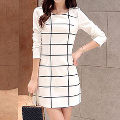 Swish - Check Shift Dress