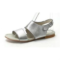 MODELSIS - Genuine Sheepskin Buckled Sandals